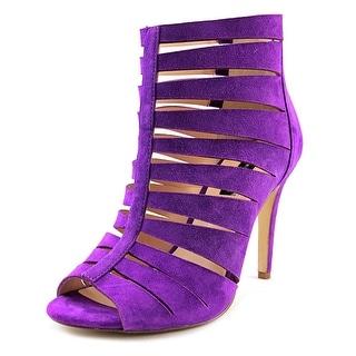 INC International Concepts Romeyo Women Open Toe Suede Purple Sandals