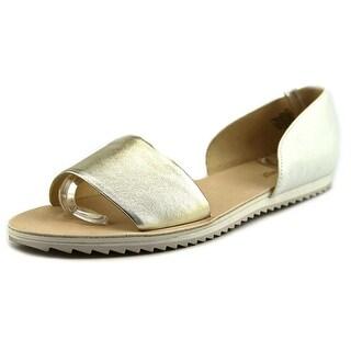 Nine West Qualify Women Open Toe Leather White Sandals