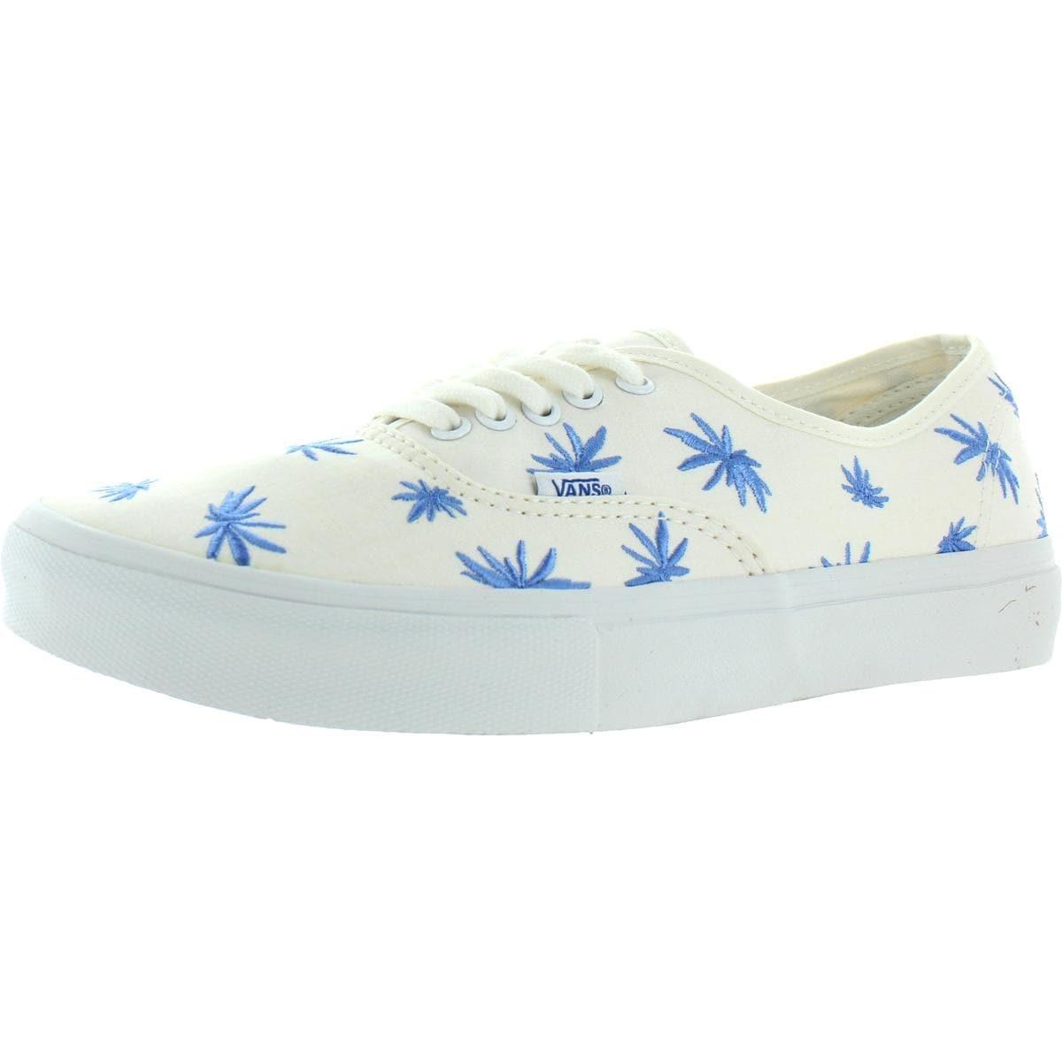 Vans Mens Authentic LX Skate Shoes Low Top Embroidered Palm EmbroideryBlc de Blc 8 Medium (D)