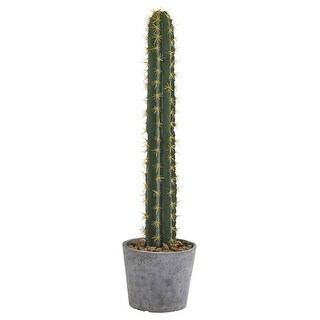 """Nearly Natural 41"""" Cactus in Stone Planter Artificial Plant"""