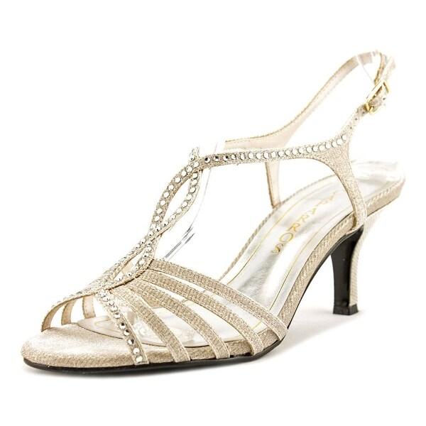 Caparros Sabrina Nude Glimmer Sandals