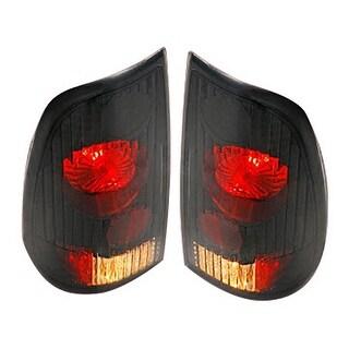 Winjet WJ20-0016-05 Altezza Style Tail Lights for 1997-2003 Ford F-150 F-250 F-350 - Black/Smoke