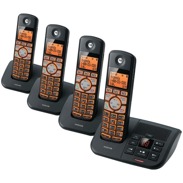 Motorola K704B Dect 6.0 Cordless Phone System With Caller Id & Answering System (4-Handset System)