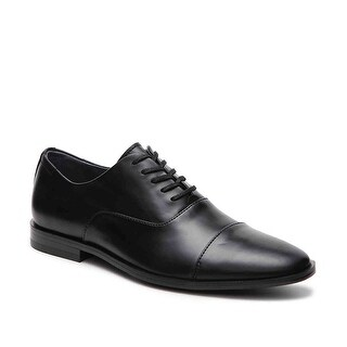 Calvin Klein Neptune Mens Black Leather Casual Dress Oxfords Shoes