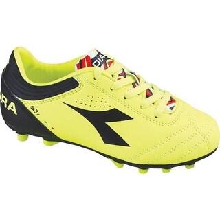 Diadora Children's Italica 3 MD PU JR Soccer Cleat Yellow Fluo/Black