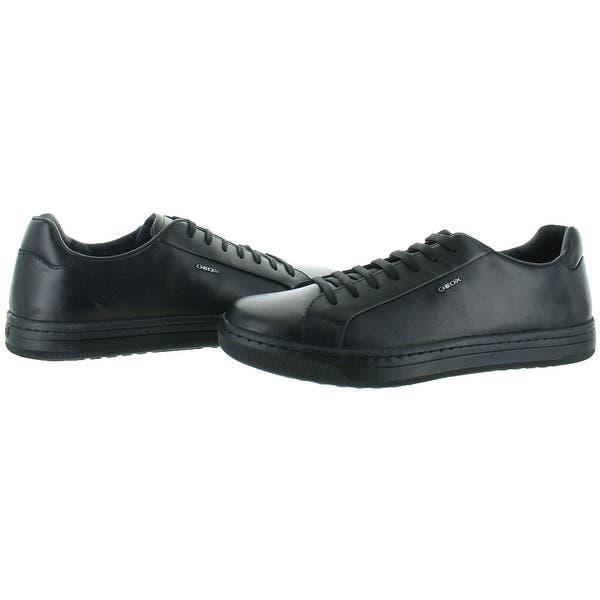 Aceptado riñones Divertidísimo  Shop Geox Ricky Men's Leather Fashion Sneakers Shoes - Overstock - 19843377