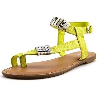 Bar III Verna Women Open Toe Synthetic Yellow Sandals