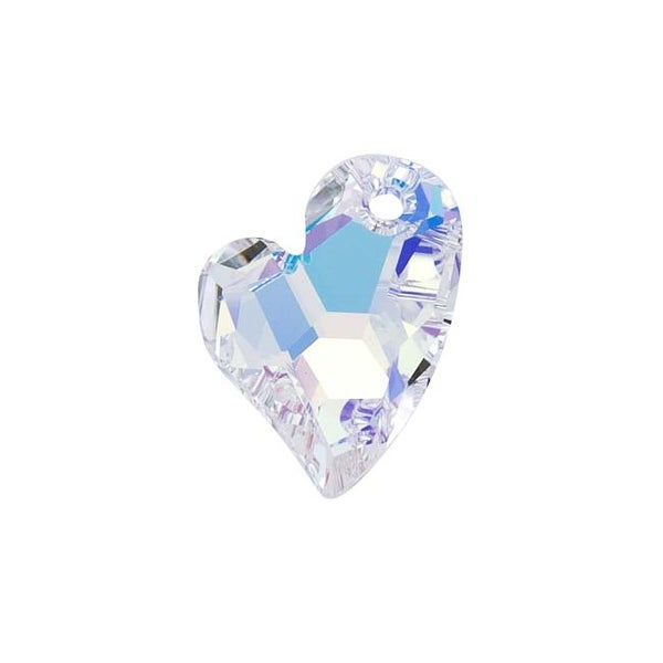 Swarovski Elements Crystal, 6261 Devoted 2 U Pendant 17mm, 1 Piece, Crystal AB