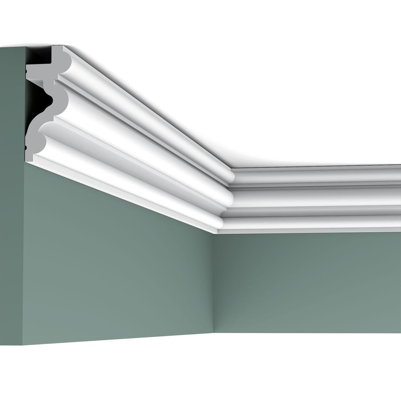 Orac Decor Crown Moulding CX106 Primed Polyurethane L 78-3//4 H 6-3//8 4-5//8 Proj 4-5//8 Face