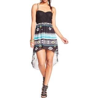 Trixxi Womens Juniors Casual Dress Chiffon Hi-Low