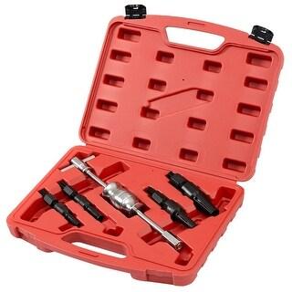 Goplus 5PCS Inner Bearing Blind Hole Remover Extractor Puller Set Slide Hammer Tool Kit - as pic