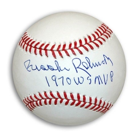 Sports Mem, Cards & Fan Shop Brooks Robinson Autograph Baseball Orioles 1970 Ws Mvp Baltimore Orioles Excellent Quality
