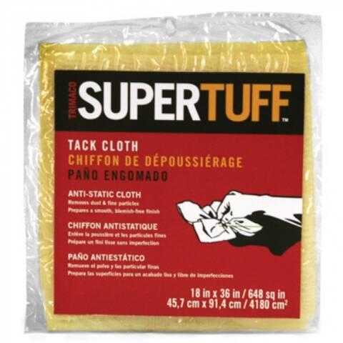 "Trimaco 10501 SuperTuff Tack Cloth Pre-Finish Duster, 18"" x 36"", Tan"
