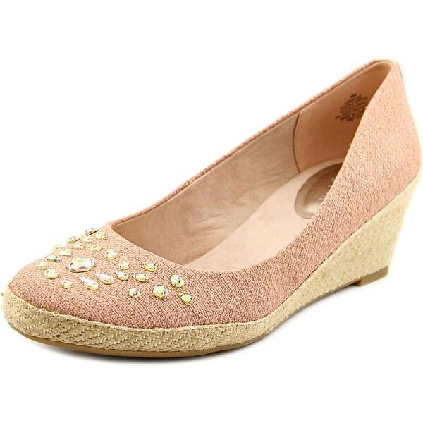 Easy Spirit Kalijo Women Open Toe Canvas Pink Wedge Heel