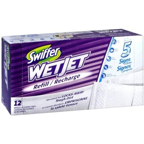 Swiffer WetJet Cleaner Pads Refills 12 Each