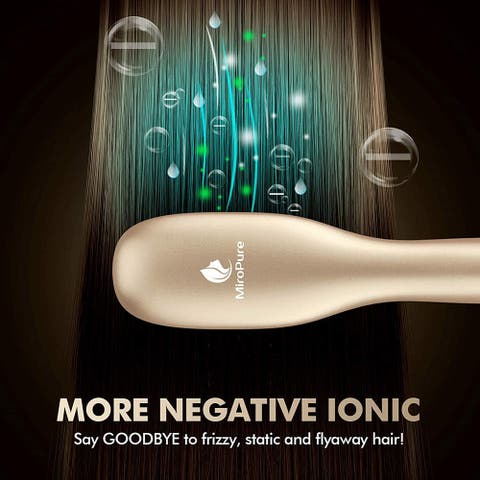 30s Fast Even Heating Hair Straightener Brush with Ionic Generator