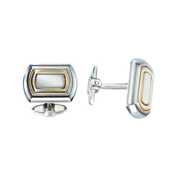 Dolan Bullock Sterling Silver & 14K Gold Men's Cufflinks - Two-tone