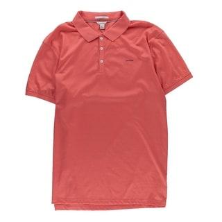 Calvin Klein Mens Liquid Cotton Polo Shirt Signature