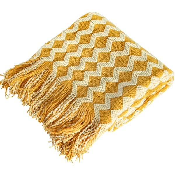 NTBAY Soft All Season Reversible Acrylic Knitted Throw Blanket, Lightweight and Decorative Travel Blanket 51''x67''. Opens flyout.