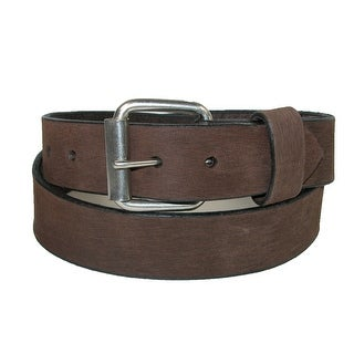 Boston Leather Men's Big & Tall Bark Leather 1.5 Inch Belt