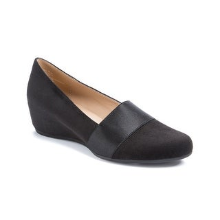 Andrew Geller Secretary Women's Flats & Oxfords Black Silky Suede