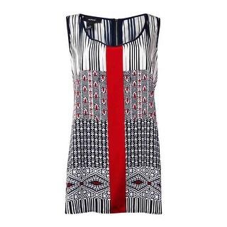 Alfani Women's Printed Pullover Tank (10, Stripe Red) - stripe red - 10
