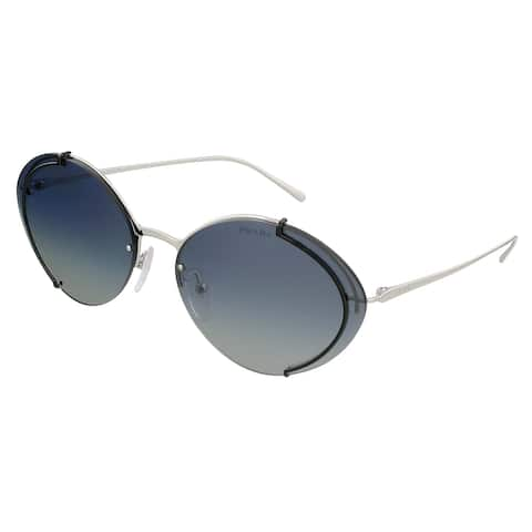 Prada 0PR 60US CONCEPTUAL GAQ3A0 Silver/Black Oval Sunglasses - 63-17-140