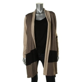 Avec Womens Open Front Colorblocked Cardigan Sweater