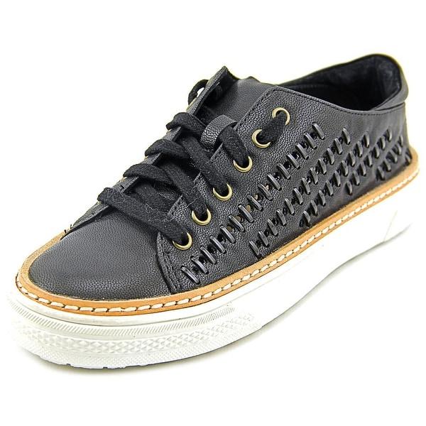 Delman Mela Women Leather Black Fashion Sneakers