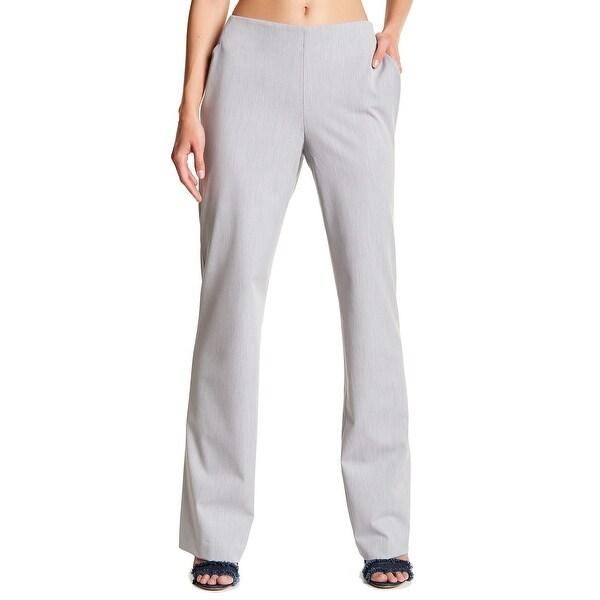 NYDJ Gray Women's Size 14 Stretch Wide Leg Trouser Dress Pants