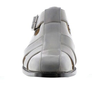 Stacy Adams Mens Calisto Buckle Closed Toe Fisherman Sandals