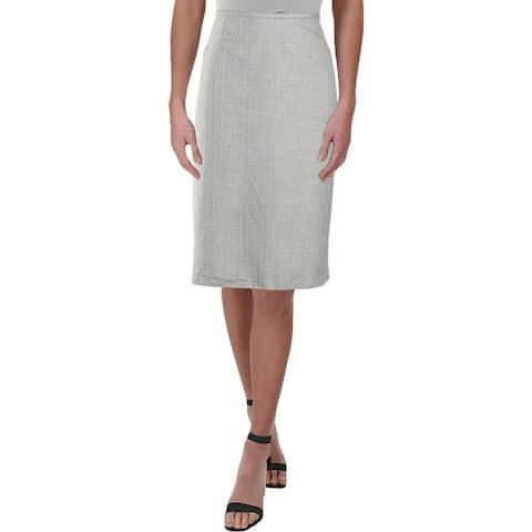 Le Suit Womens Pencil Skirt Pinstripe Office - 12
