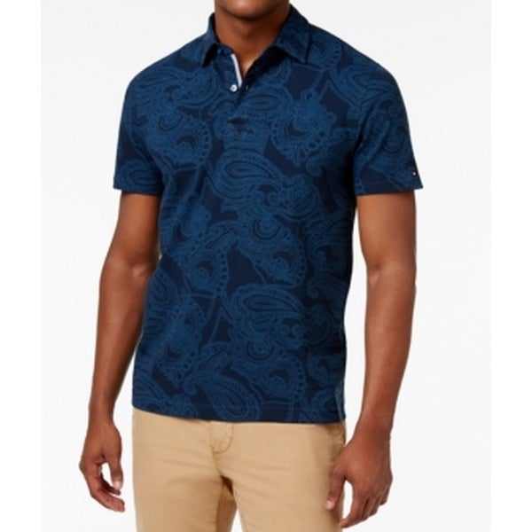43da47a3 Shop Tommy Hilfiger NEW Blue Mens Size Small S Paisley-Print Polo Shirt -  Free Shipping On Orders Over $45 - Overstock.com - 19567122