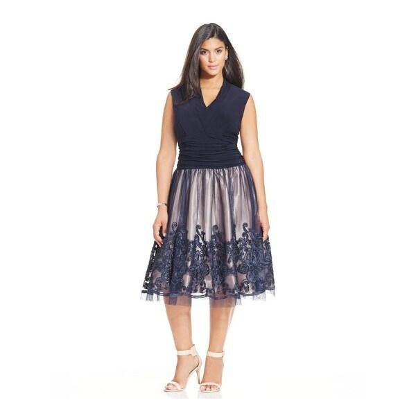 8c7a47c0c3739 Shop SL Fashions Womens Plus Cocktail Dress Lace Sleeveless - Free ...