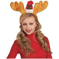Antlers with Hat Headband Adult Costume Accessory