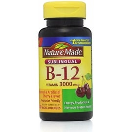 Nature Made Vitamin B-12 3000mcg, Sublingual Lozenges, Cherry 40 ea
