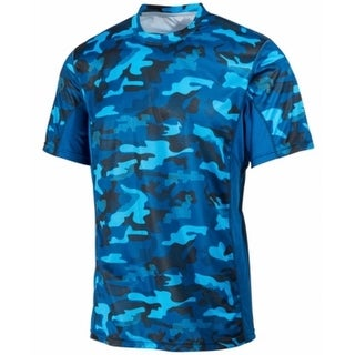 Ideology NEW Blue Mens Size Large L Performance Camo Crew Athletic T-Shirt 129