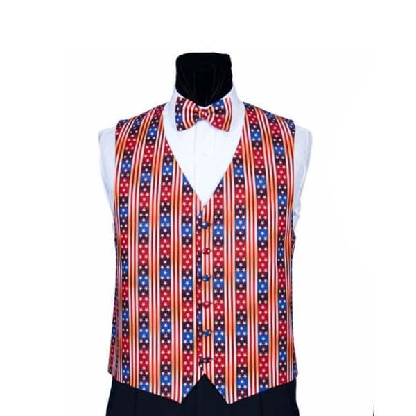 b35e8a1293ef Shop Red White and Blue Party Novelty Vest and Bow Tie - red, white, blue,  gold - Free Shipping Today - Overstock - 22901376