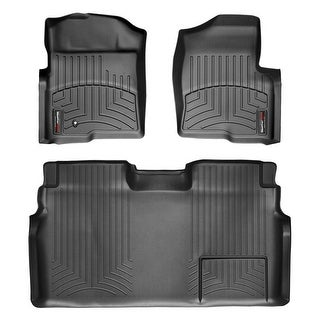 WeatherTech 44179-1-3 Black Front & Rear FloorLiner:Ford F-150 2009 - 2011 (Crew cab)