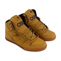 Osiris Clone Mens Tan Leather High Top Lace Up Sneakers Shoes