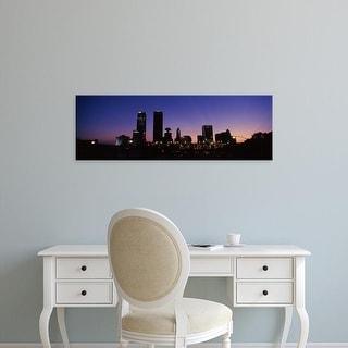 Easy Art Prints Panoramic Images's 'Downtown skyline at night, Oklahoma City, Oklahoma, USA' Premium Canvas Art
