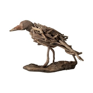 """8"""" Brown Unique Natural Driftwood Decorative Hand-carved Bird"""