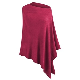 Women's Lightweight Asymmetrical Poncho - One size