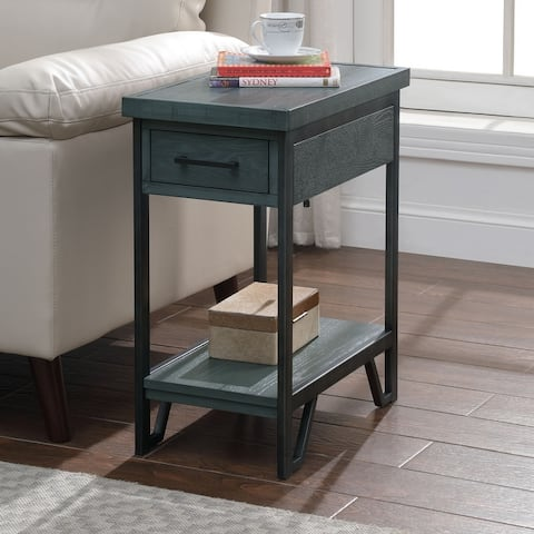 Furniture of America Mingard Transitional 1-drawer Side Table