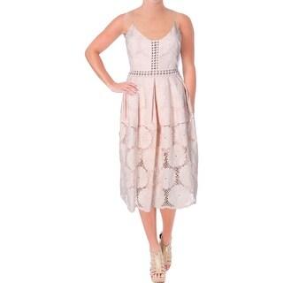 Aqua Womens Casual Dress Midi Floral