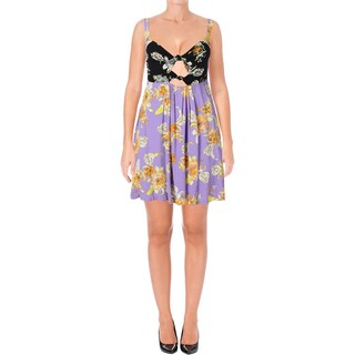 Free People Womens Baby It's You Sundress Bandeau Floral Print (Option: M - lilac combo)