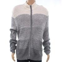 Alfani Gray Vanilla Mens Size 2XL Ombre Colorblock Full Zip Sweater