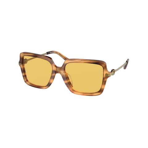 Tory Burch TY7162U 18527C 54 Amber Wood Woman Square Sunglasses