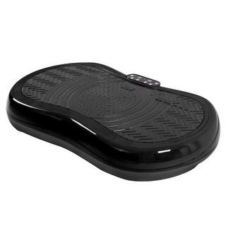 Gymax Ultrathin Mini Crazy Fit Vibration Platform Massage Machine Black