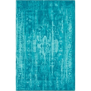 Flatweave Blueway Cotton/ Polyester Rug (8' x 10')